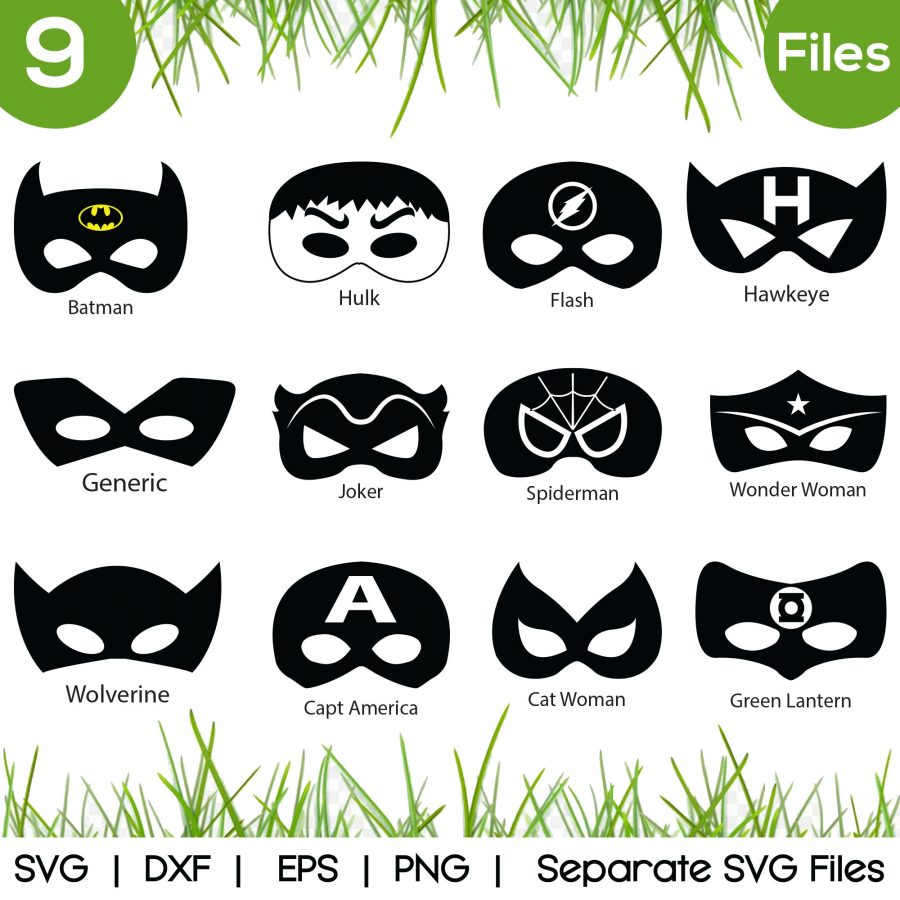 batman mask svg