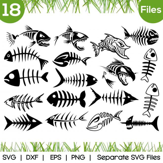 fish bone svg