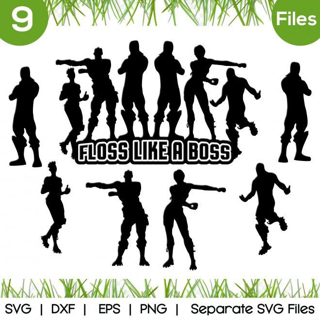 floss dance svg