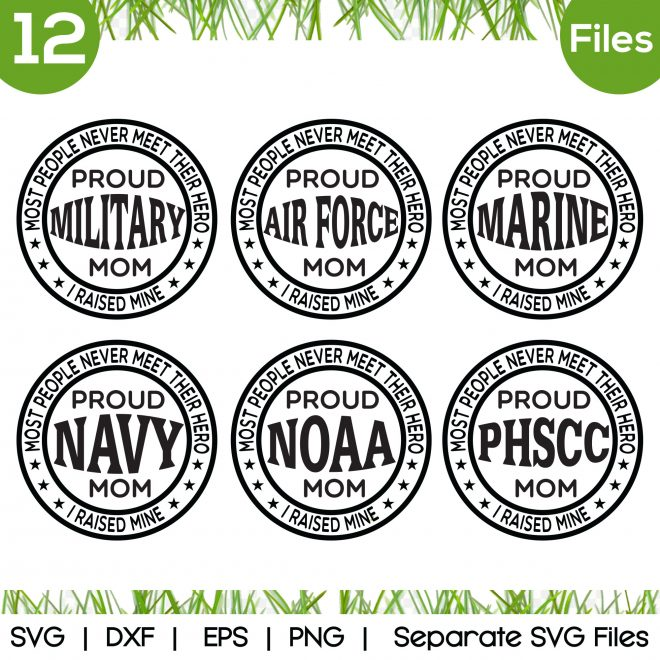 proud military mom svg